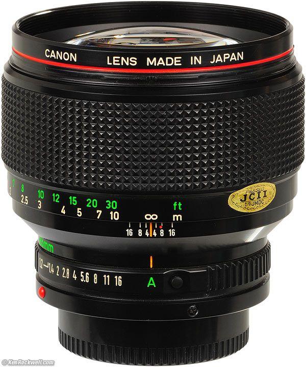 Canon Fd 85mm F 1 2 L Review Canon Camera Tips Canon Lens Canon