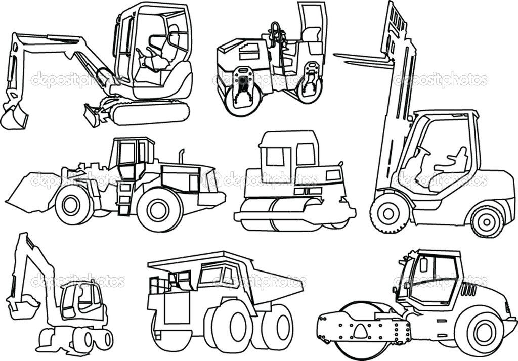 printable coloring pages of construction equipment
