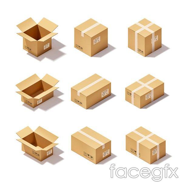 Cartoon Cardboard Box Icon Vector Cardboard Box Box Icon Custom Cardboard Boxes
