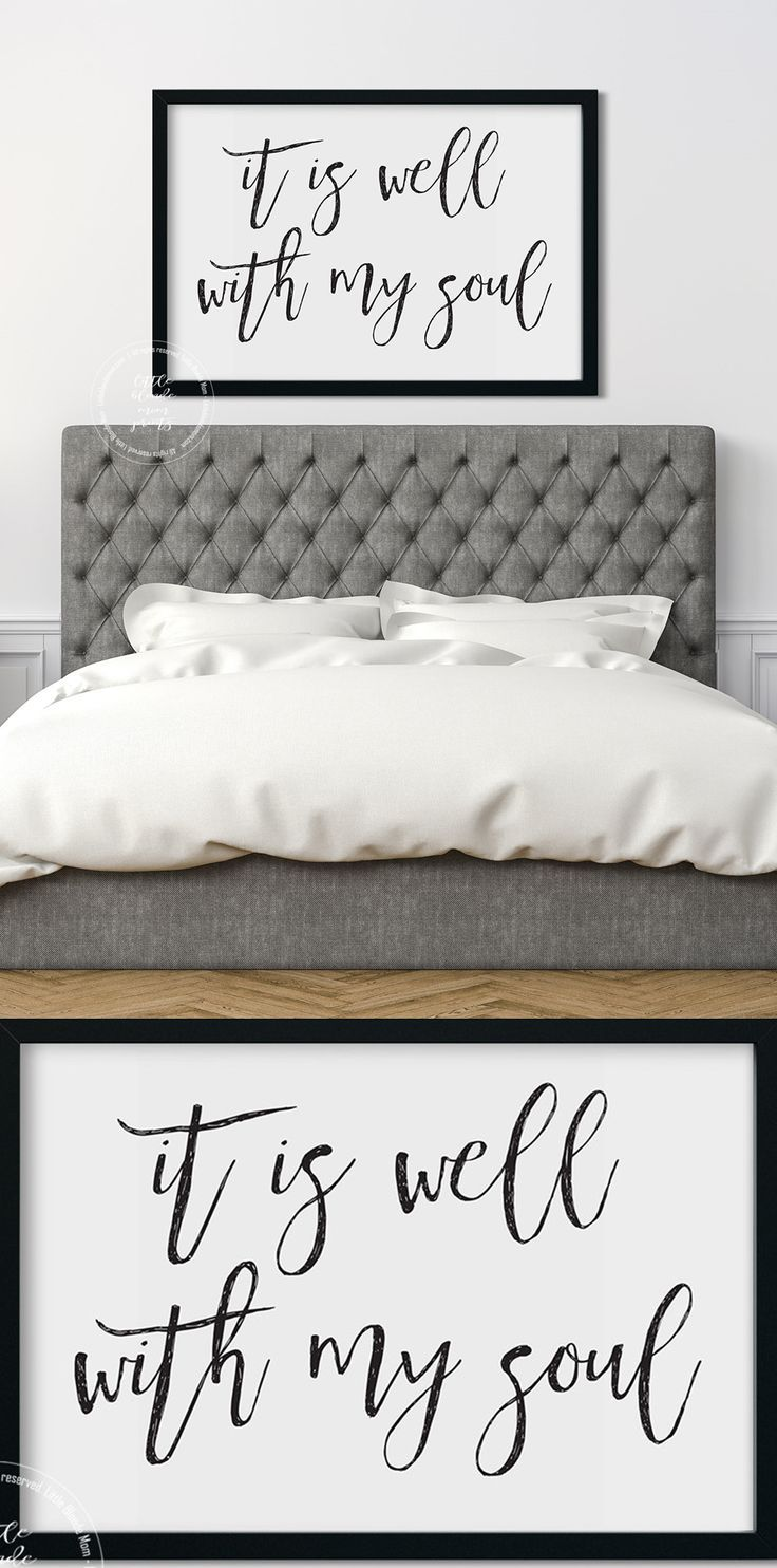 It is well with my soul printable wall decor wall art pretty