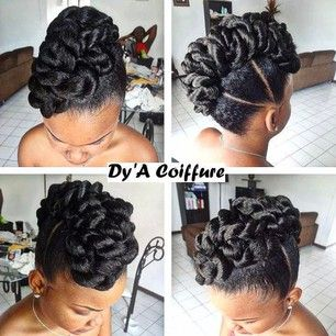 Dyacoiffure Dy A Coiffure On Instagram Natural Updos In 2018
