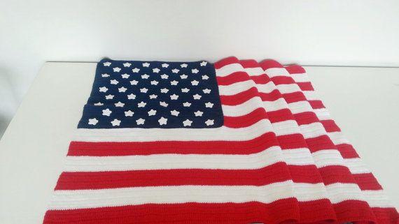 BLANKET // USA Flag afghan  //  31 x 70 USA Military  #feltaccessory #baby #babyshowergift #babydecor #babyroom #babynursery #mom #felt #babyfelt #babygift  #babytrend #babycrip #babyshoes #babies #nurserydecor