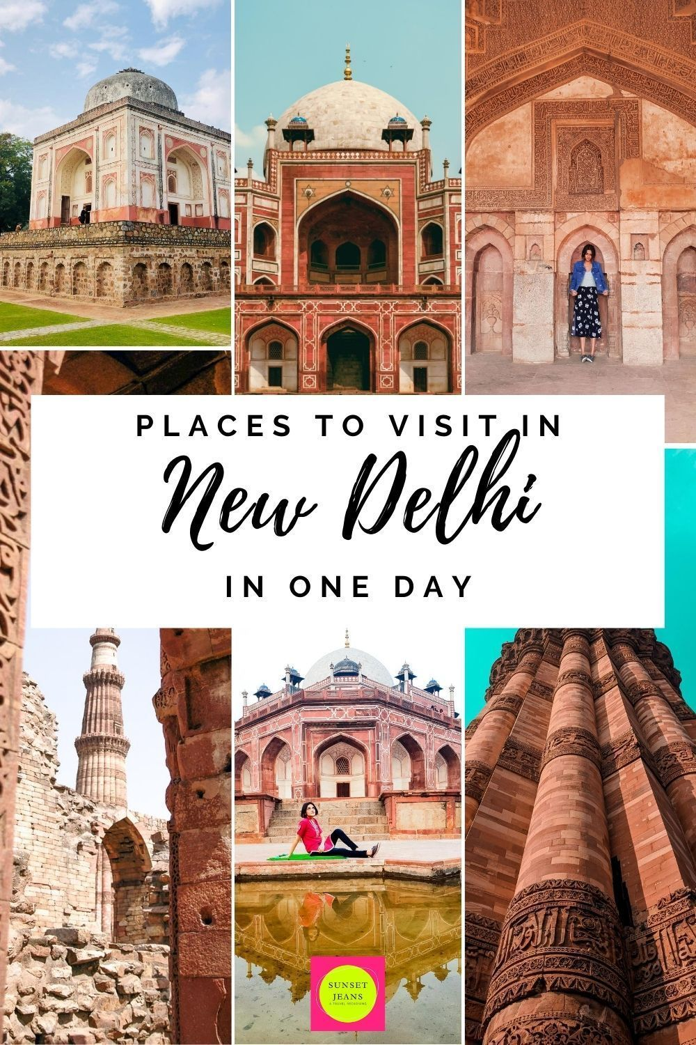 Places To Visit In Delhi In One Day Complete 1 Day Itinerary Sunset Jeans In 2020 Places To Visit Asia Travel Japanese Travel