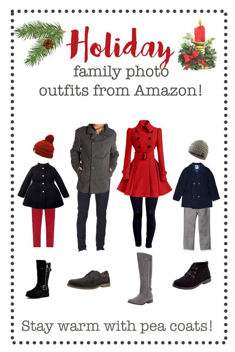 Holiday/Winter Family Photo Outfits from Amazon #familyphotooutfits