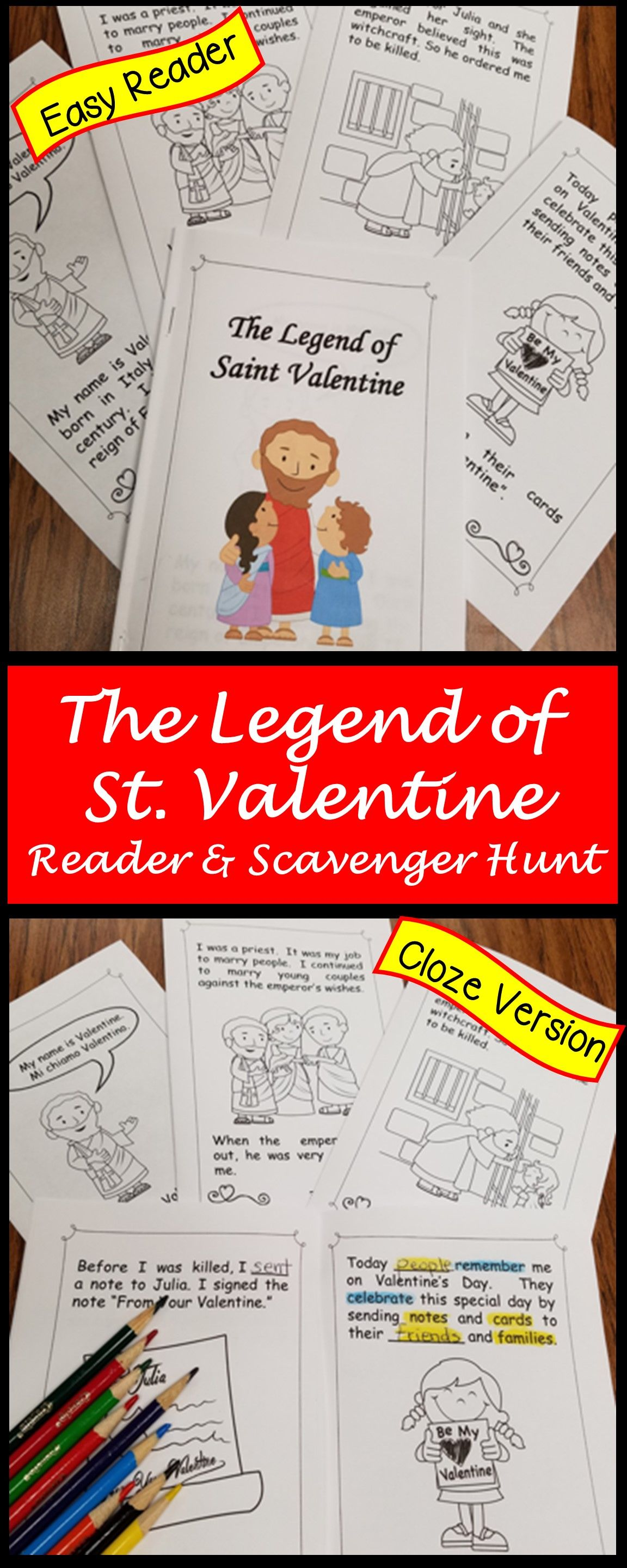 Valentine S Day Worksheets And Reader