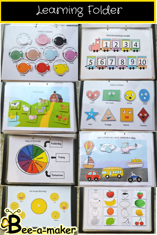 Toddler learning binder