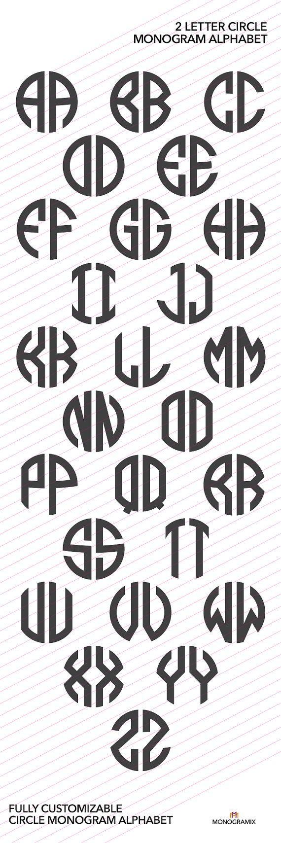 2 Brief Circle Monogramm Alphabet Ai Eps Svg Dxf Studio Ai Alphabet Circle Dxf Eps Logo Monogramm Studio Monogram Alphabet Lettering Lettering Fonts