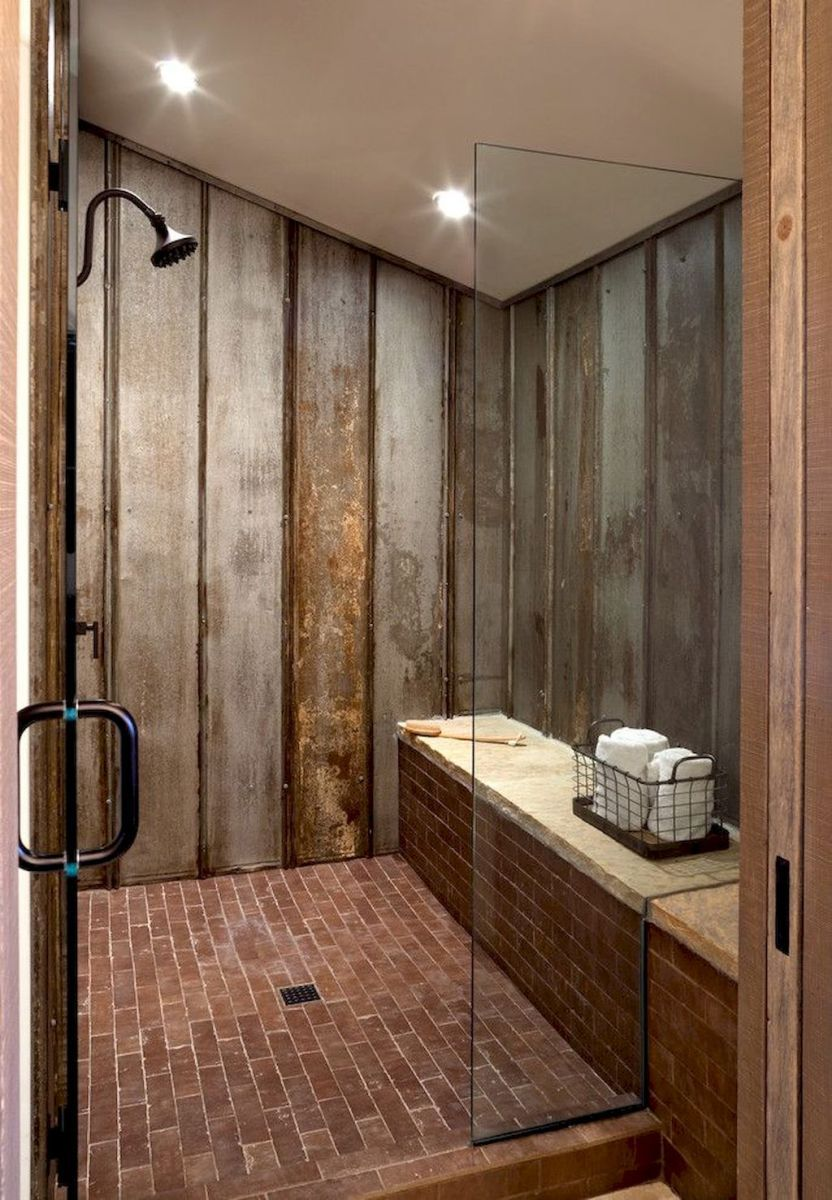80 Best Farmhouse Tile Shower Ideas Remodel 78 Farmhouse Shower Farmhouse Master Bathroom Rustic Master Bathroom