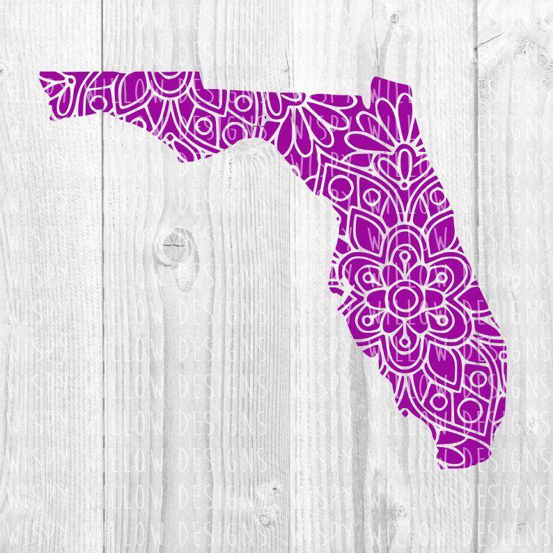 Florida floral mandala svg dxf pdf png digital download