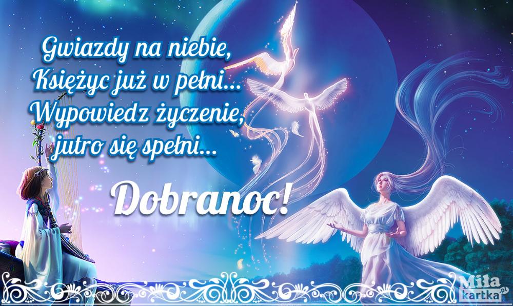 Gwiazdy Na Niebie Dobranoc Nadobranoc Sen Polska Cytaty