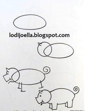 Blog De Manualidades Paso A Paso Como Hacer Dibujos Como Dibujar Un Cerdo Hacer Dibujos Para Ninos
