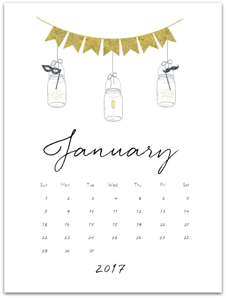 January 2017 Calendar Page Printable Diy Crafts For Gifts Diy