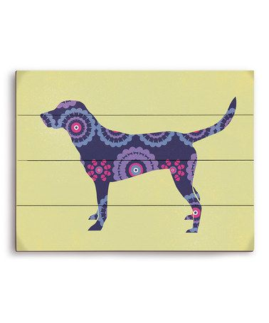 Take a look at this Labrador Mod Wall Art by PetPictures on #zulily ...