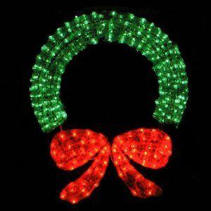 48 Lighted Crystal 3 D Outdoor Christmas Wreath Decoration 109 99