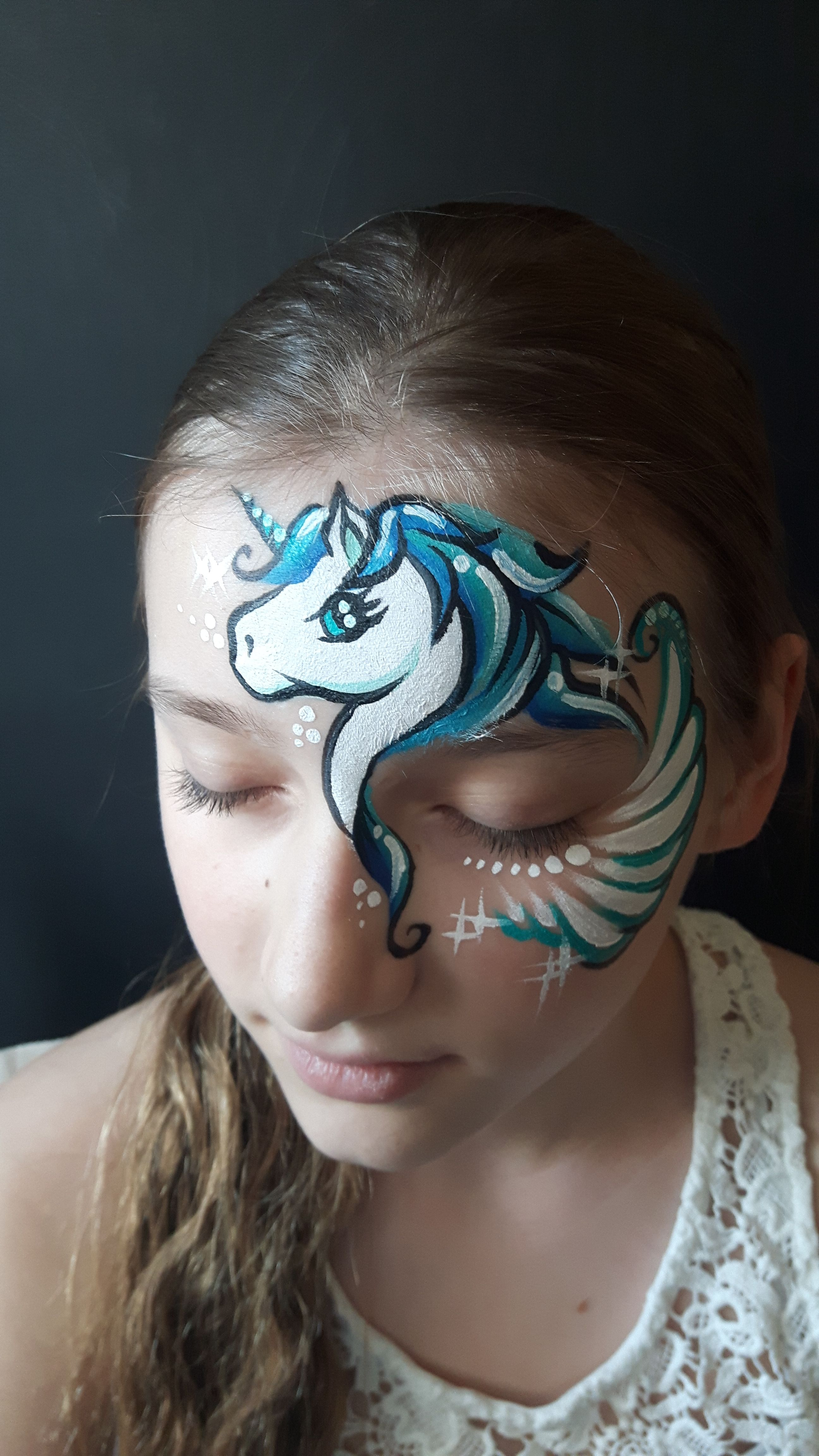 Unicorn Face Paint Katarzyna Zielinska Face Painting Unicorn