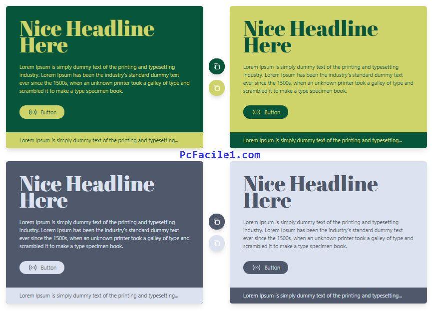 اختيار إثنان من الألوان المتناسقة لاستخدامها في مختلف التصاميم Lorem Ipsum Type Setting Headlines