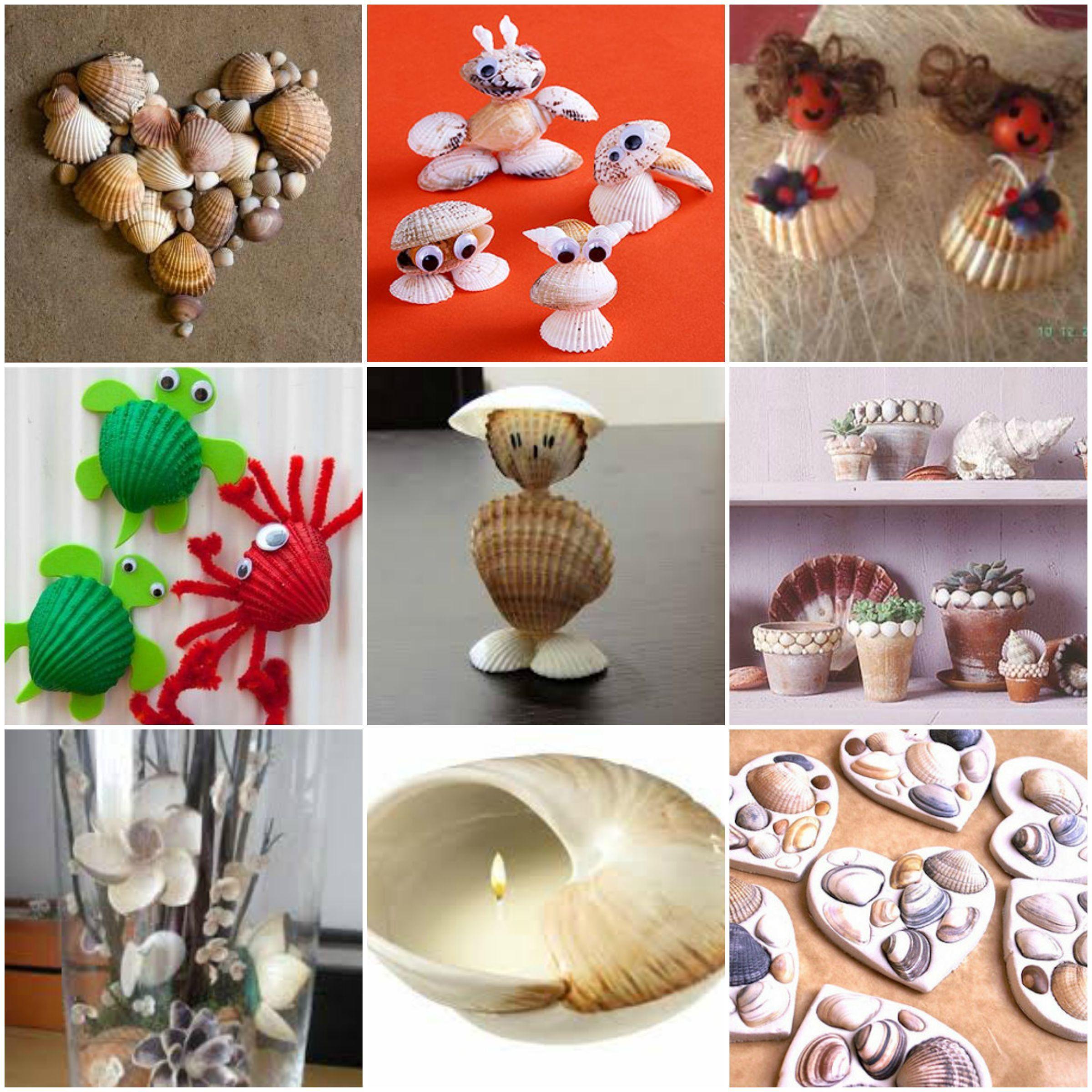 Conchas de mar reciclaje pinterest conchas - Decoracion con conchas ...
