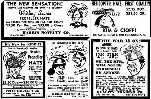 798d17e5309 Advertisements for Propeller Beanies from Billboard Magazine (5 Jun 1948)