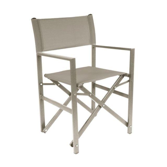 Lebrun Chaise aluminium taupe Borneo | Mobilier de jardin | Outdoor ...
