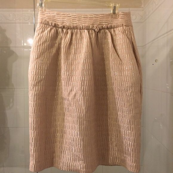 Talbots skirt NWT, 2, with pockets Talbots skirt, NWT 2, gorgeous party skirt, high waisted tulip style, with pockets. Really pretty fabric, with sheen and texture. Stunning in person.  New condition. Tags attached. Loose threads on top that can be snipped off. No tears or snags. Talbots Skirts