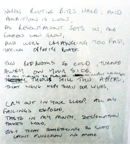 Love Will Tear Us Apart Ian Curtis Original Handwriting With