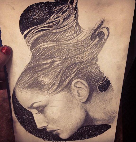 Kat Von D's tattoo sketch! Love it!