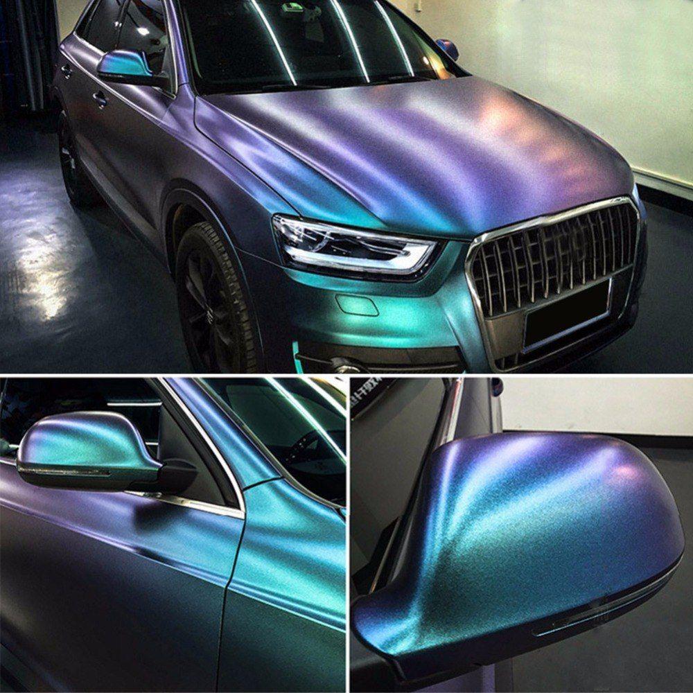 Glossy DIY Car Body Film Chameleon Pearl Glitter Vinyl