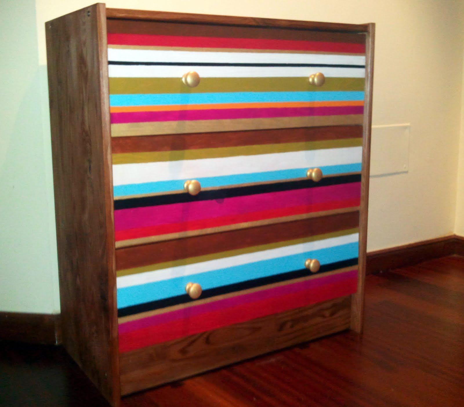comodas de pino pintadas - Buscar con Google   Muebles Pintados ...