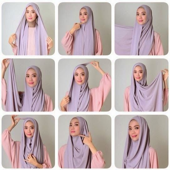 30 Hijab Styles Step By Step Style Arena Islam Pinterest Girl Hijab Tutorials And Girls