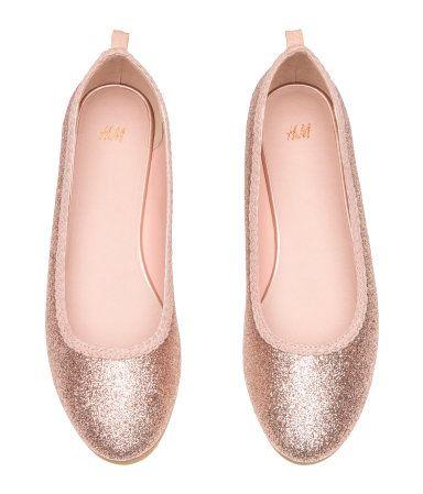 7088045b830 Glittery Ballet Flats