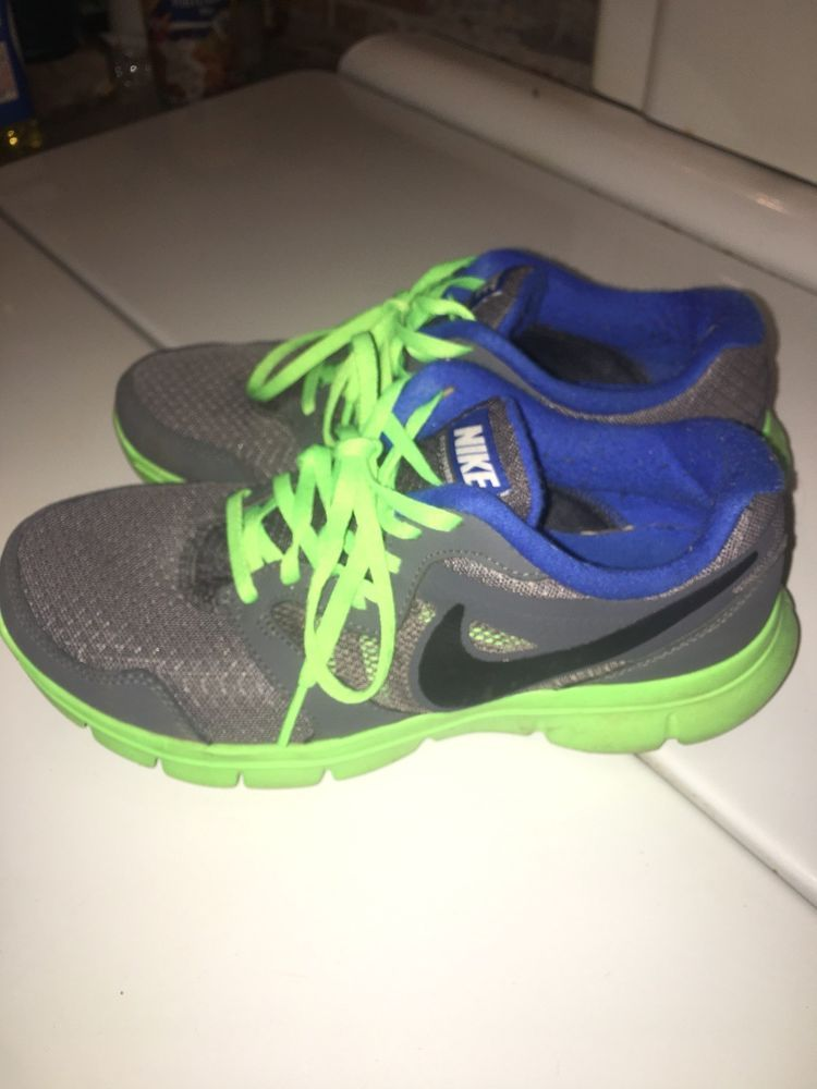 ea8735552fae Nike Flex Experience Running Shoes Gray GreenWomens US Size 6  fashion   clothing  shoes  accessories  womensshoes  athleticshoes (ebay link)