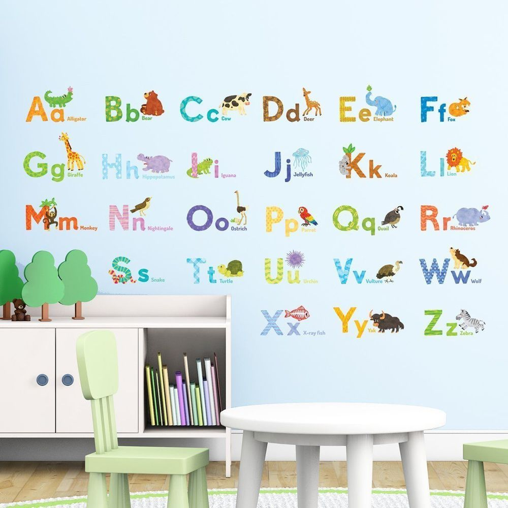 Animal zoo Wall Art Sticker Boys Girls Kids Child Bedroom Decal decoration uk