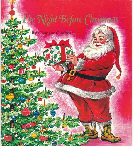 The Night Before Christmas 1982 Vintage Paperback Book from Dial Soap Santa