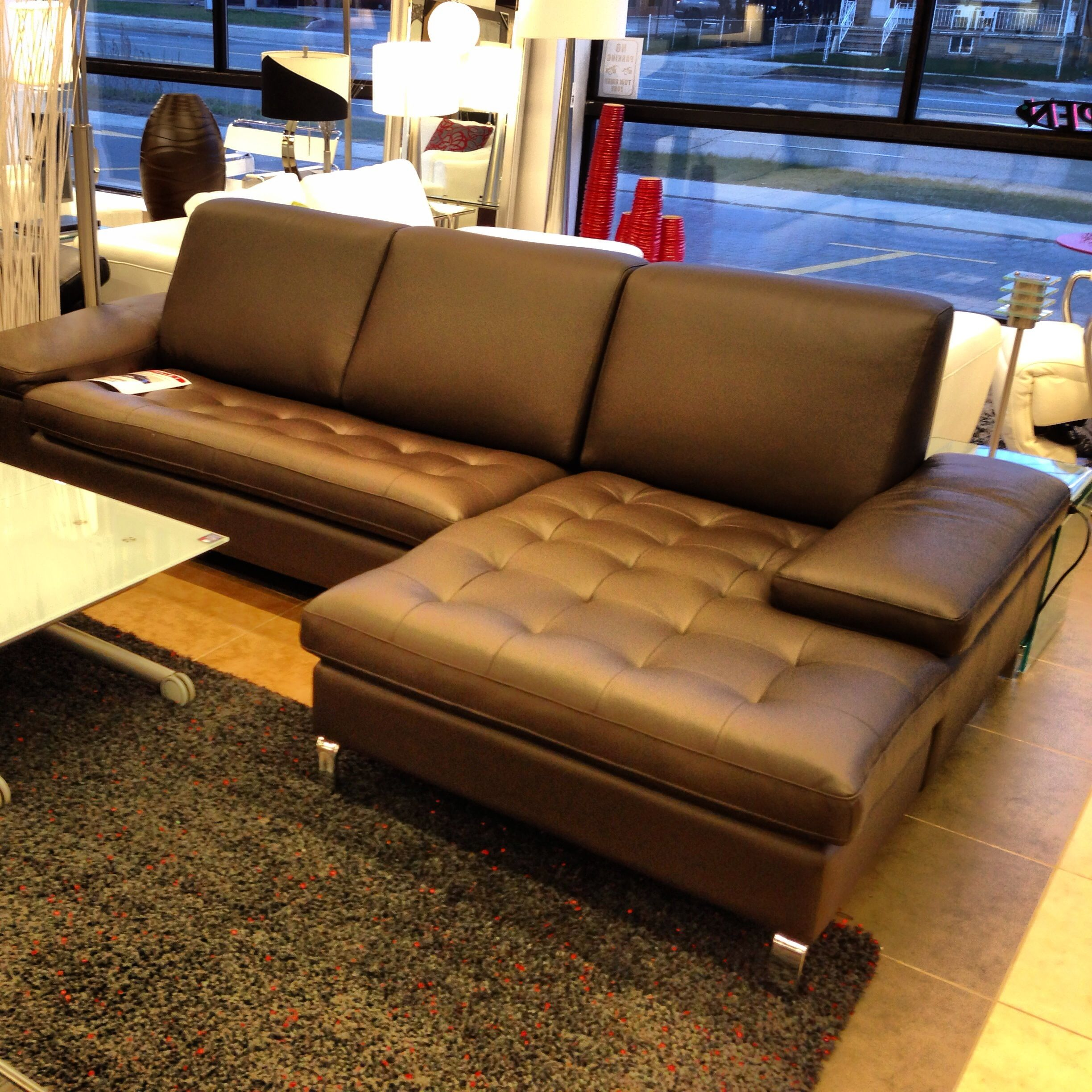 Brown leather sectional sofa from furniture Toronto $2699