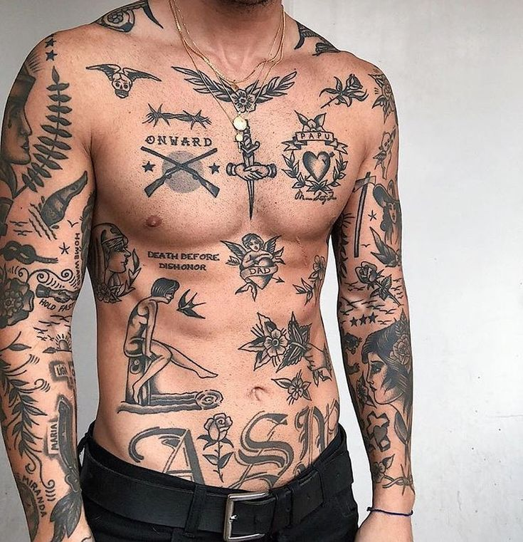 Account Suspended Small chest tattoos, Cool chest