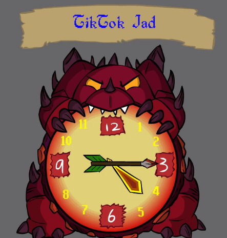 How do you like this Jad clock? #runescape #osrs #rsorder