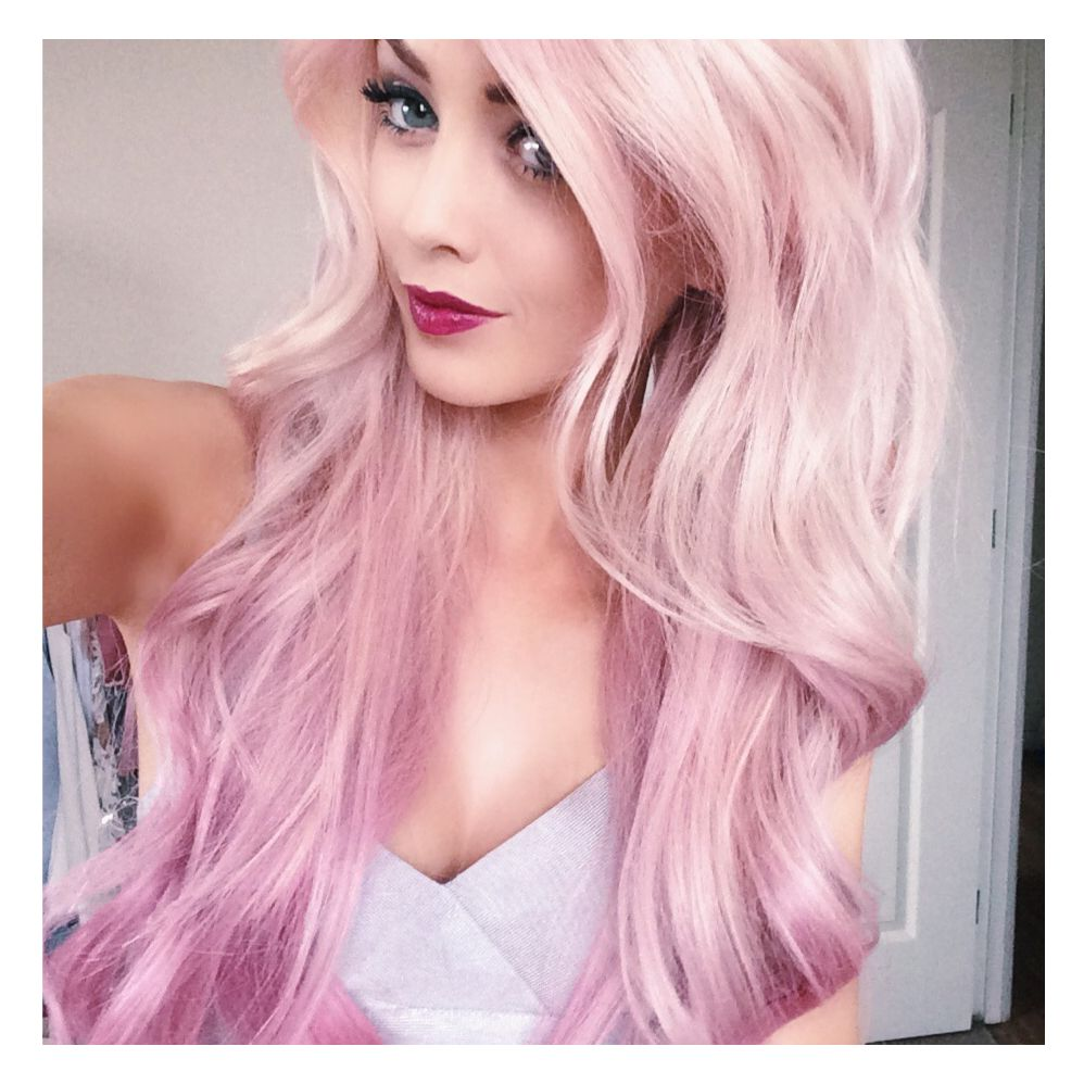 Bright Pink Hair Dye Beleza Pinterest Bubble Gum