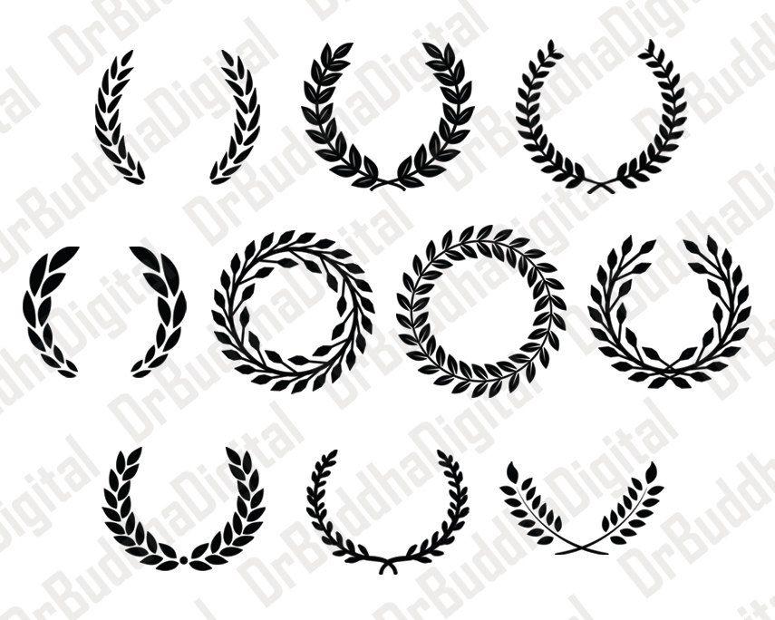 21++ Silver laurel wreath clipart info
