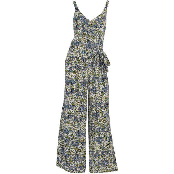2f33086eecc7 Green floral palazzo jumpsuit ( 29) ❤ liked on Polyvore featuring jumpsuits