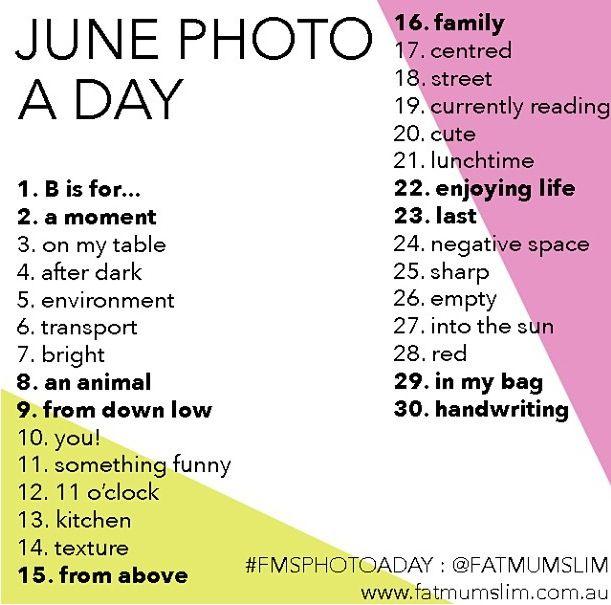 PhotoADay June