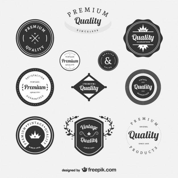 Premium Vintage Labels Set Free Vector Free Vectors Pinterest - abel templates psd