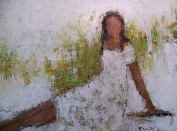 "Princess dk Gallery  770-427-5377  30x40""  Acrylic & Mixed Media  Holly Irwin, artist"