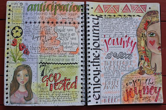 This artist knows how to keep a journal!