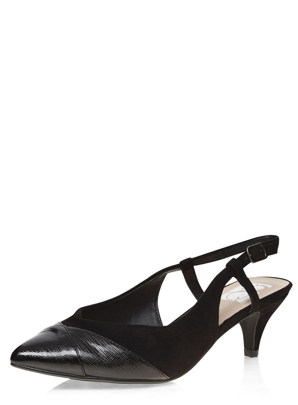 Black Slingback Kitten heel