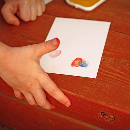Thumbprint cards / Cartes avec empreintes de pouces   DeSerres