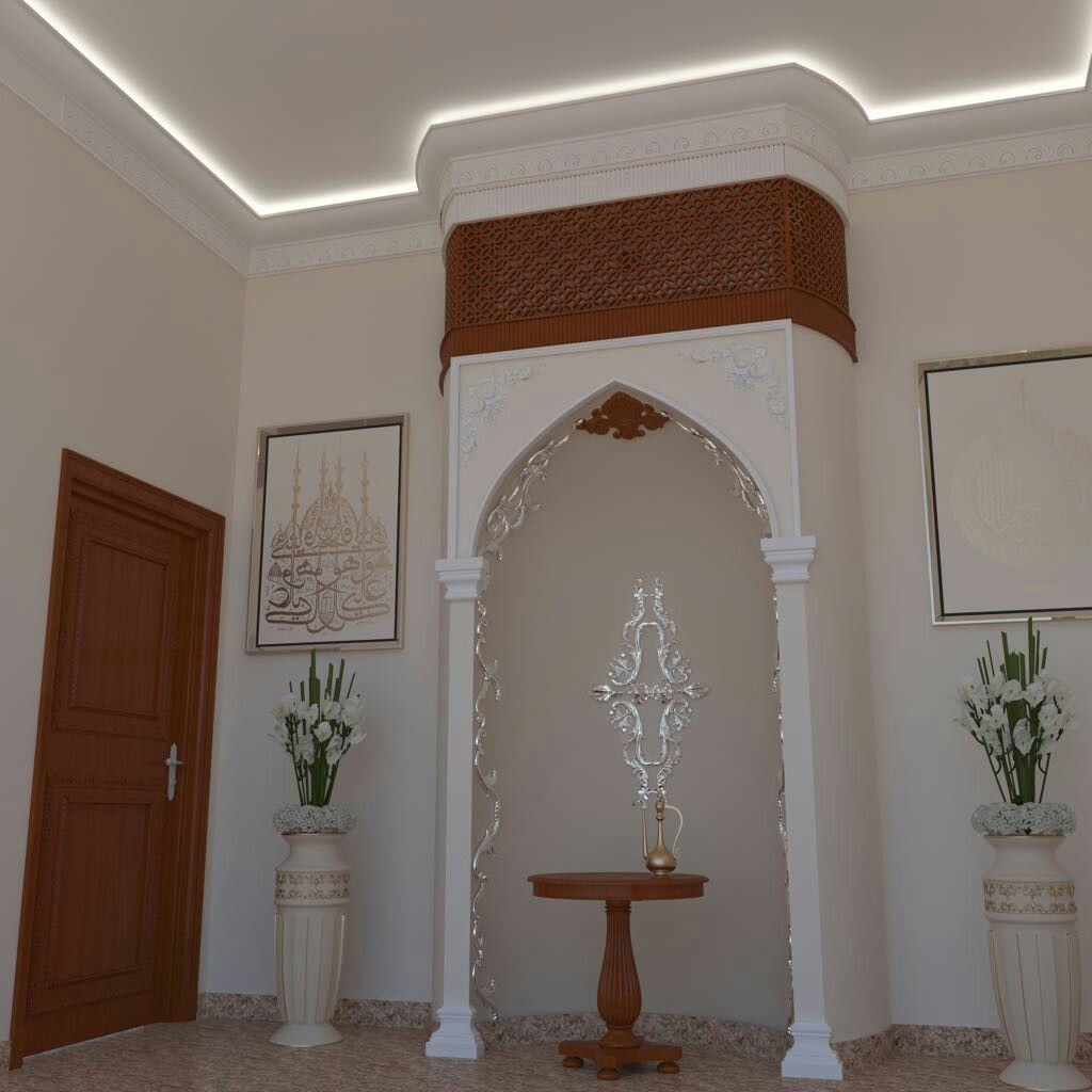 Entrance hall gypsum entryway plaster entrance foyer plaster of paris