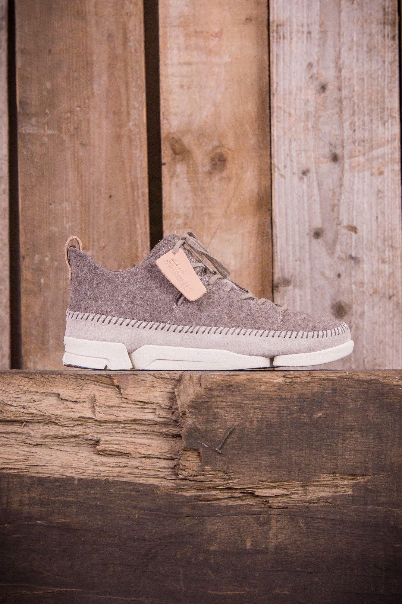Clarks Originals Trigenics Flex Wool - Grey Felt - Footwear - The Priory - 1