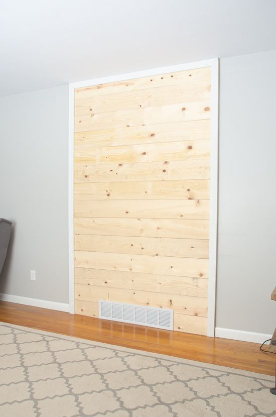 Diy Wood Plank Shiplap Accent Wall The Golden Sycamore Shiplap Accent Wall Wood Plank Walls Accent Walls In Living Room