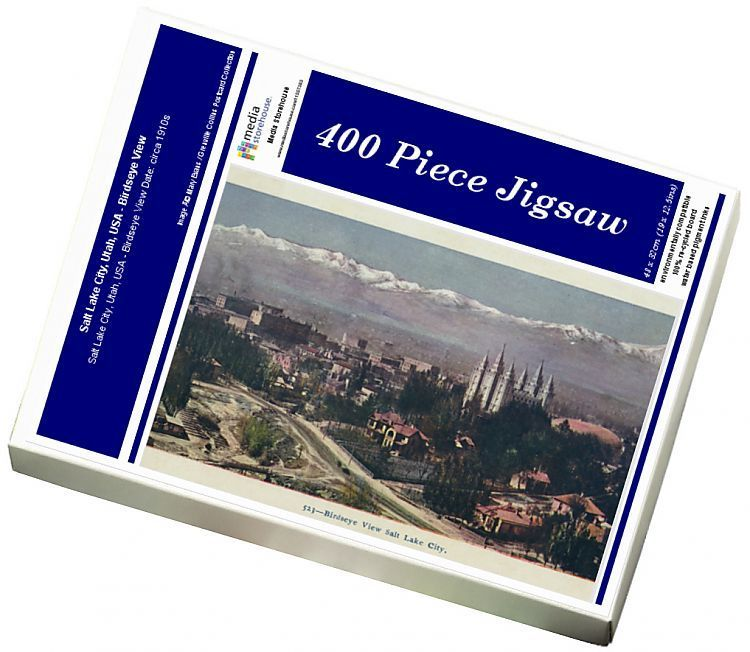 Jigsaw Puzzle-Salt Lake City, Utah, USA - Birdseye View-400 Piece Jigsaw Puzzle made to order in the UK