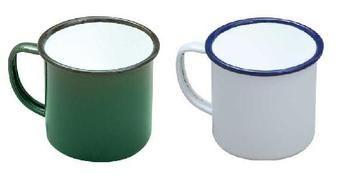 Large enamel mugs